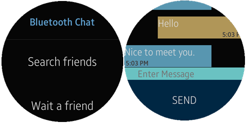 Circle) Bluetooth Chat Sample Overview