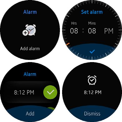 Alarm screens