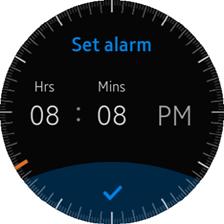 Set alarm view