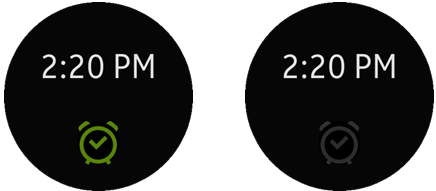 Alarm on and off