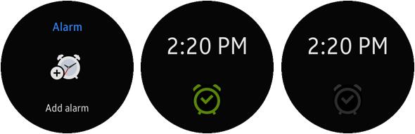 Alarm Widget screen