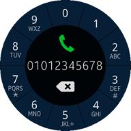 (Circle) Dialer screen