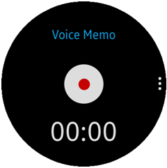 Voice Memo main view