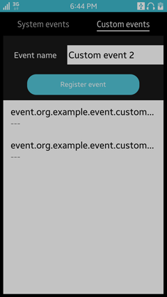 Custom events view
