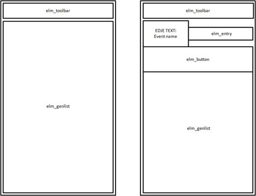 Event application UI view