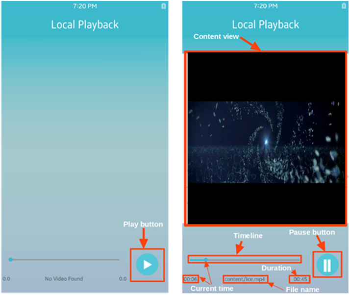 Media Streamer local playback view