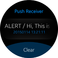 Push Message Alert