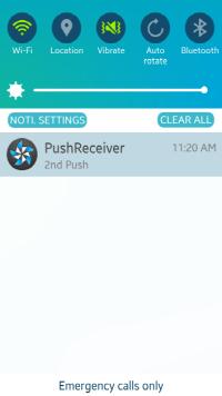 Push Message Alert