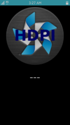 Main view of the application running with the DPI=380