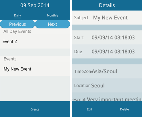 Scheduler main views