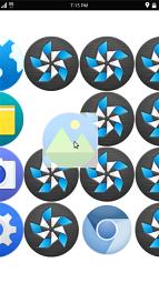 Icon rearrangement