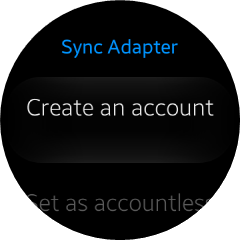 Sync Adapter main screen view