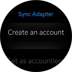 Sync Adapter main screen view