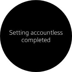 Set as accountless