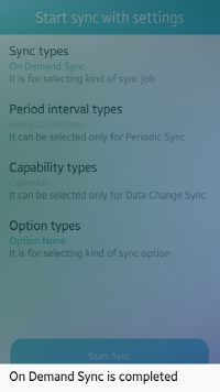 On Demand Sync