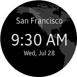 World Clock Widget main screen