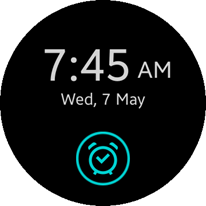 One-time alarm