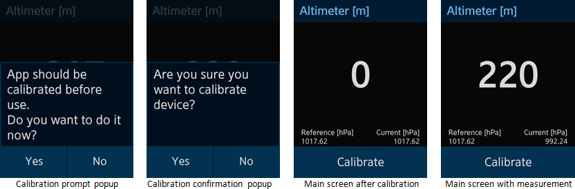 Altimeter screens