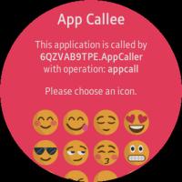 App Caller and App Callee screens
