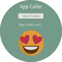 App Caller and App Callee screens