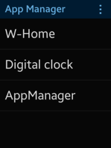 App Manager screens