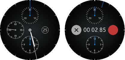 Chronograph Watch screen