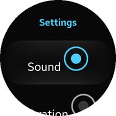 Feedback settings screen