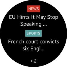 News Briefing Widget screen