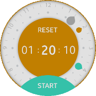 Rotary Timer screens
