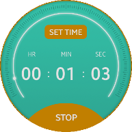Rotary Timer screen