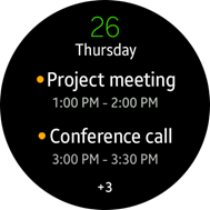 Schedule Event widget screen