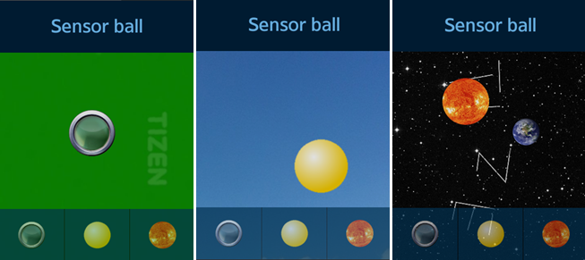 Sensor Ball screen