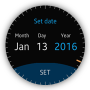 Set date popup screen