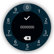 Tap indicator on a number selector screen