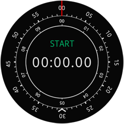 Main Stop Watch screen