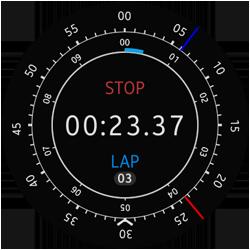 Main Stop Watch screen