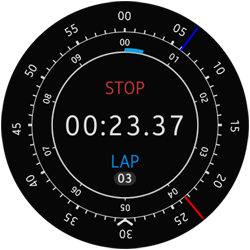STOP and LAP buttons