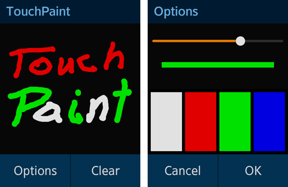 Touch Paint screens