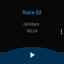 Voice Memo screen