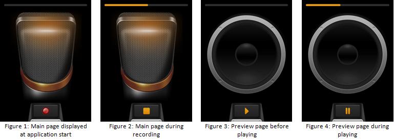 Voice Recorder screens