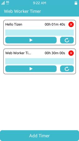 WebWorkerTimer screen
