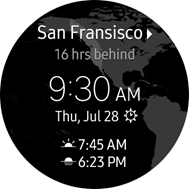 World Clock Widget screen