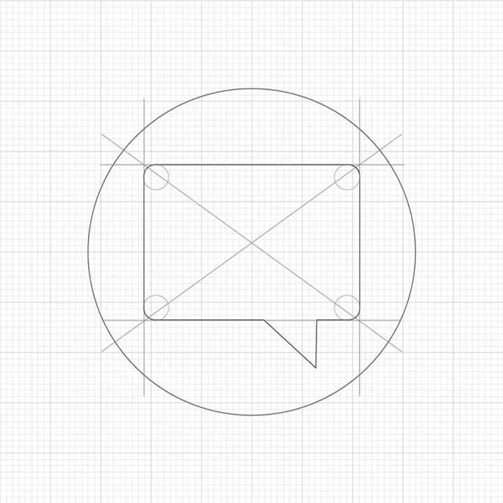 Original circle concept, initial sketch