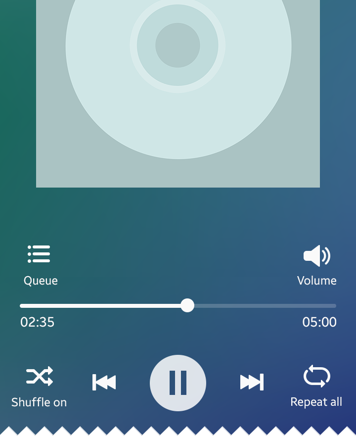 Music player on a mobile device