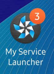 The badge displayed along the application icon.