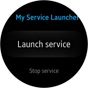 Circle UI appearance for My Service Launcher application
