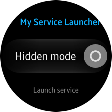 "The application UI with ""Hidden mode"" option"