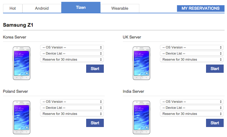 Samsung Z1 is now available in Remote Test Lab!