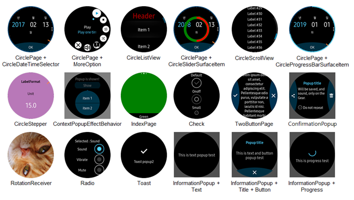 Tizen Circular UI for Watch