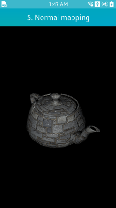 Normal mapping example